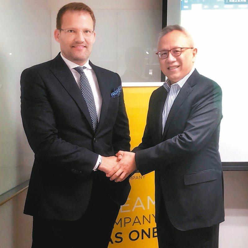 美時董事長韋斯曼(左)(本報系資料庫)