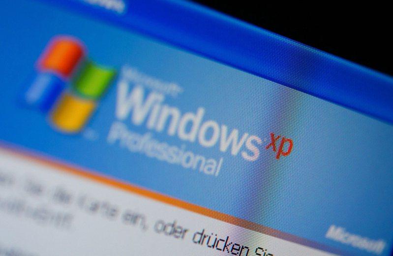 Windows XP介面。歐新社