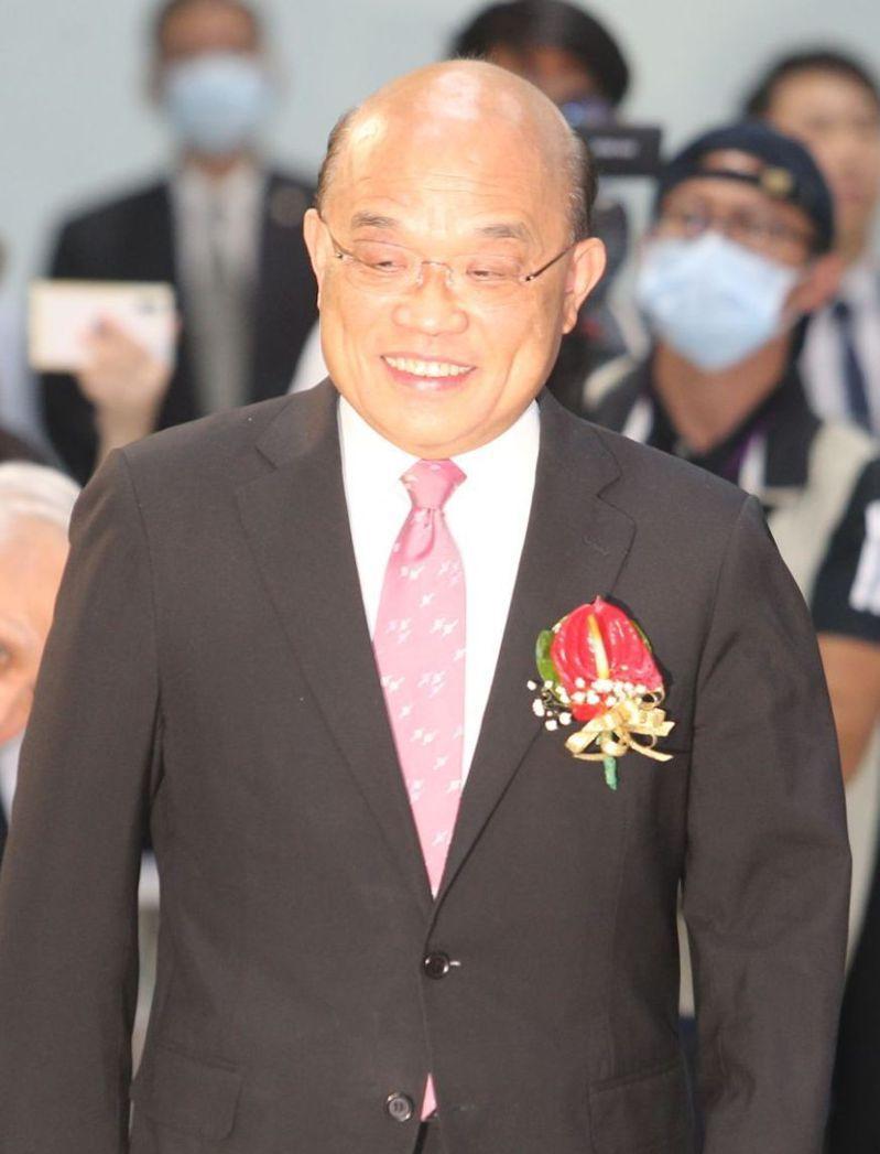 行政院長蘇貞昌被問到中國大陸軍機不斷擾台之事時表示,國人同胞都知道維護國家安全與堅守主權,寸土不讓。 記者劉學聖/攝影