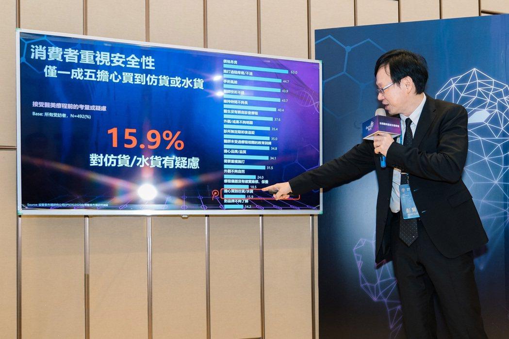 台灣醫用雷射光電學會長理事長彭賢禮表示,民眾在醫美安全認知上仍有待進步,需提升辨...