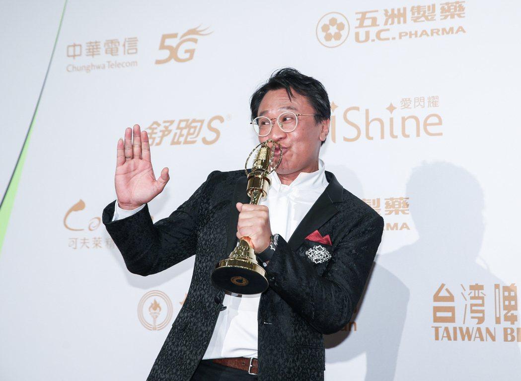 演員游安順以盲人阿清獲得迷你劇集男配角獎。記者曾原信/攝影