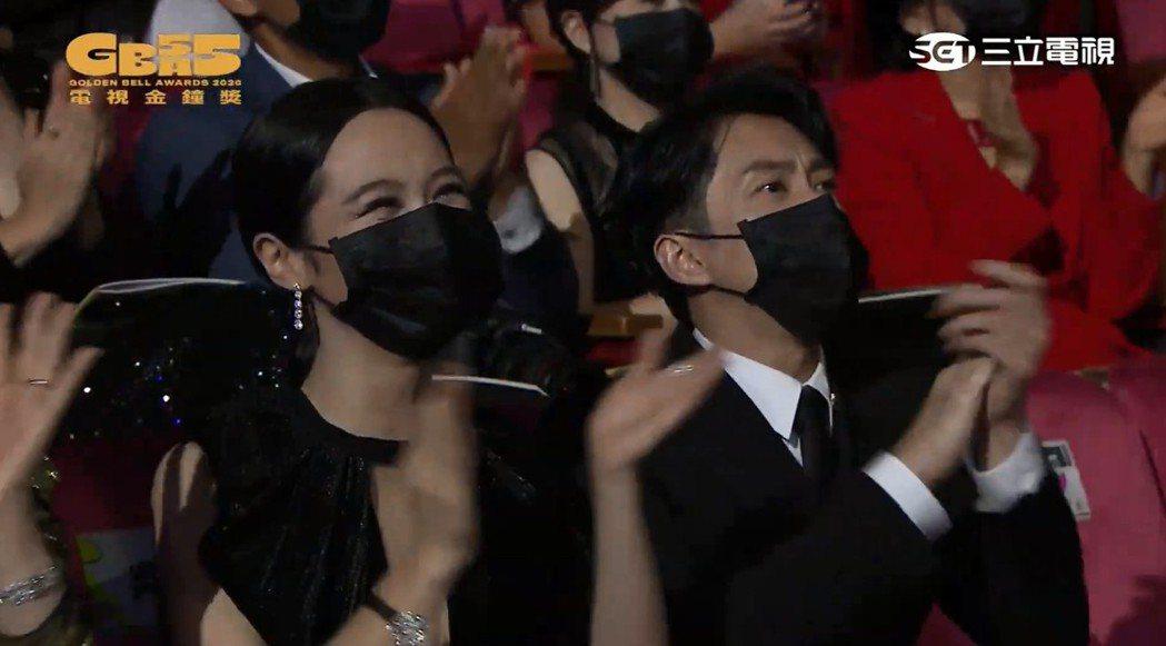 台下眾星都戴上口罩。圖/翻攝自金鐘獎YouTube