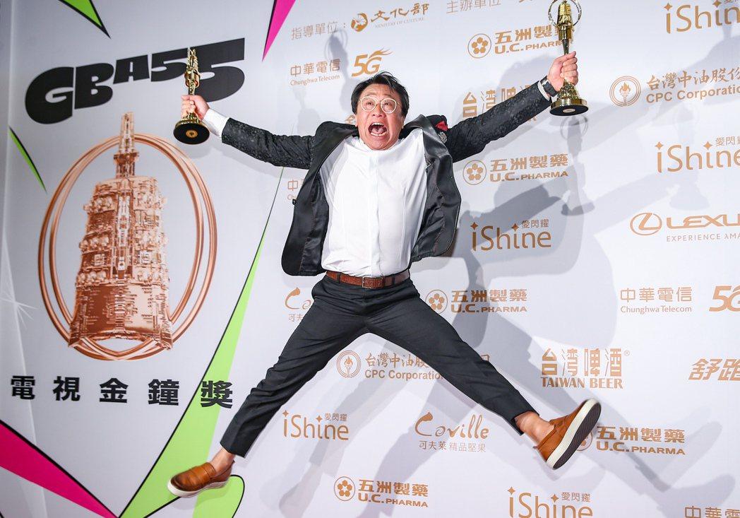 第55屆金鐘獎頒獎典禮在國父紀念館舉行,迷你劇集/電視電影男主角獎由游安順獲得,...