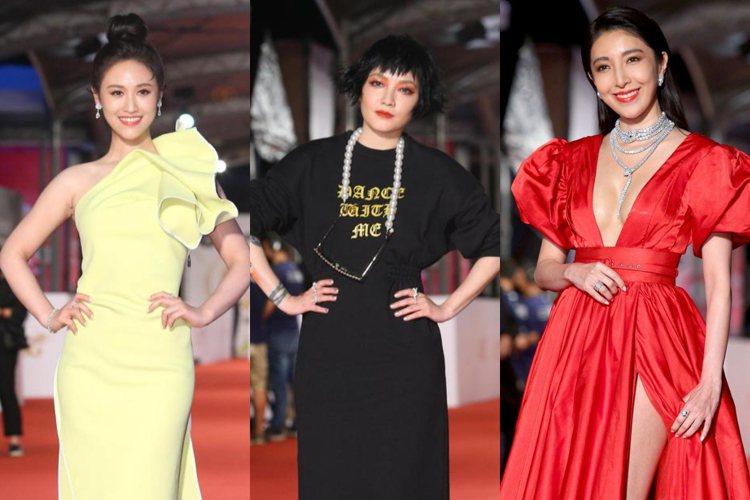 吳姍儒、范曉萱、楊謹華現身第55屆金鐘獎紅毯。記者余承翰/攝影