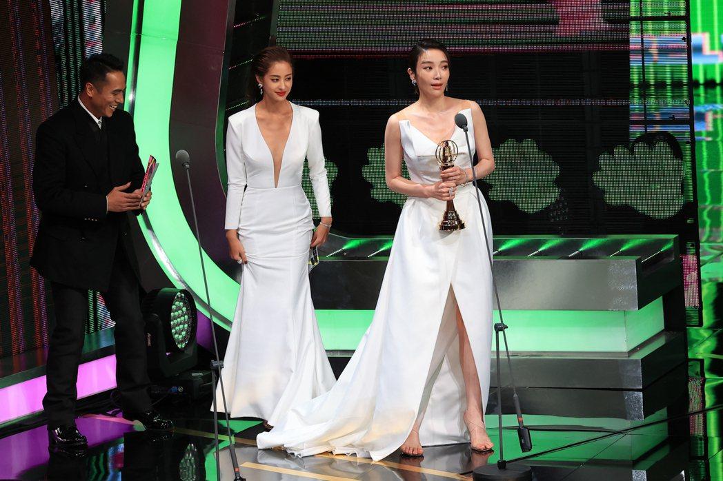第55屆金鐘獎頒獎典禮在國父紀念館舉行,戲劇節目女配角獎由蔡淑臻獲得。記者林伯東...