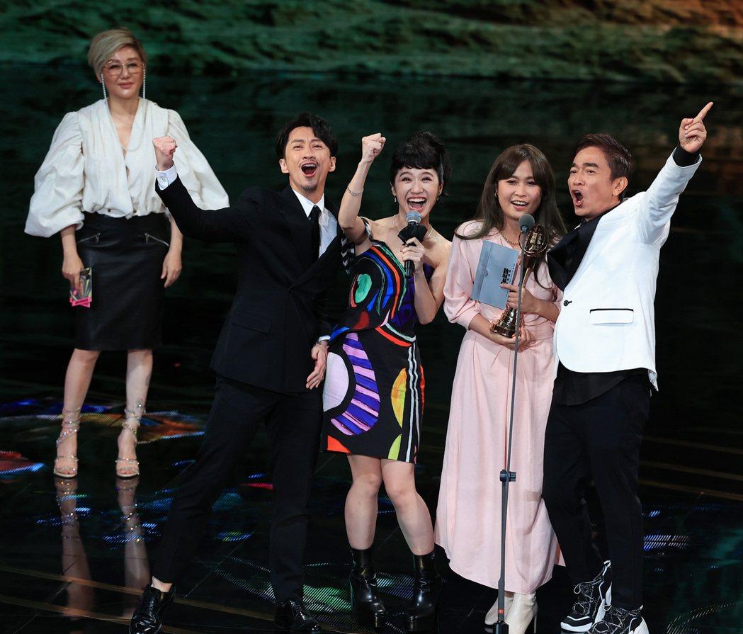 第55屆金鐘獎頒獎典禮在國父紀念館舉行,綜藝節目獎由綜藝大熱門獲得。記者林伯東/...