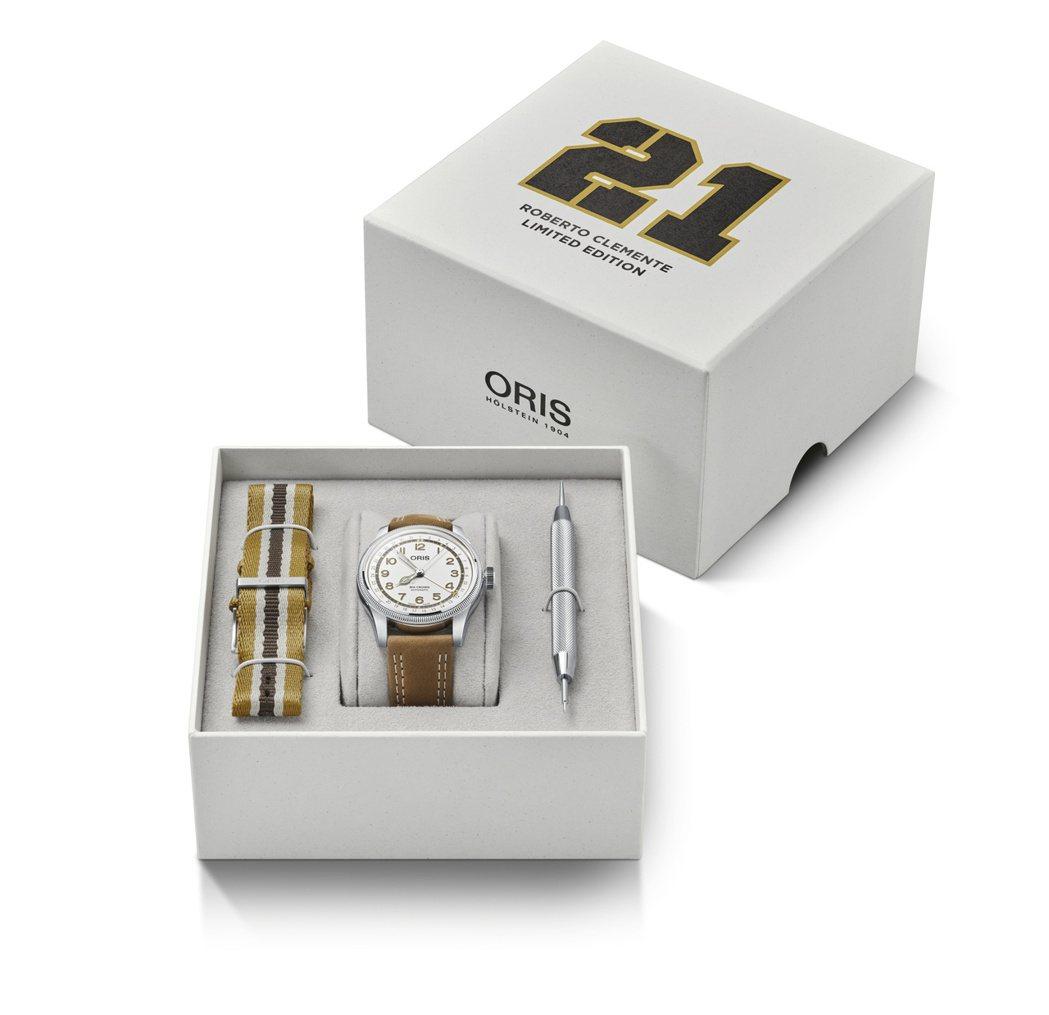 Oris Roberto Clemente 限量腕錶,套組建議售價55,000元...