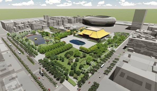 國父紀念館園區景觀工程改善後示意圖。 國父紀念館/提供