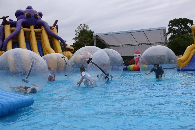 「2020滑水同玩節」戲水設施超好玩。 宜蘭縣政府/提供
