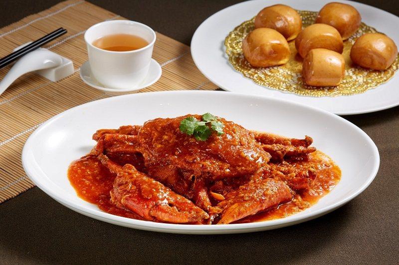 高雄國賓飯店粵菜廳-星洲辣沙公蟹味鮮甜濃郁。 高雄國賓飯店/提供