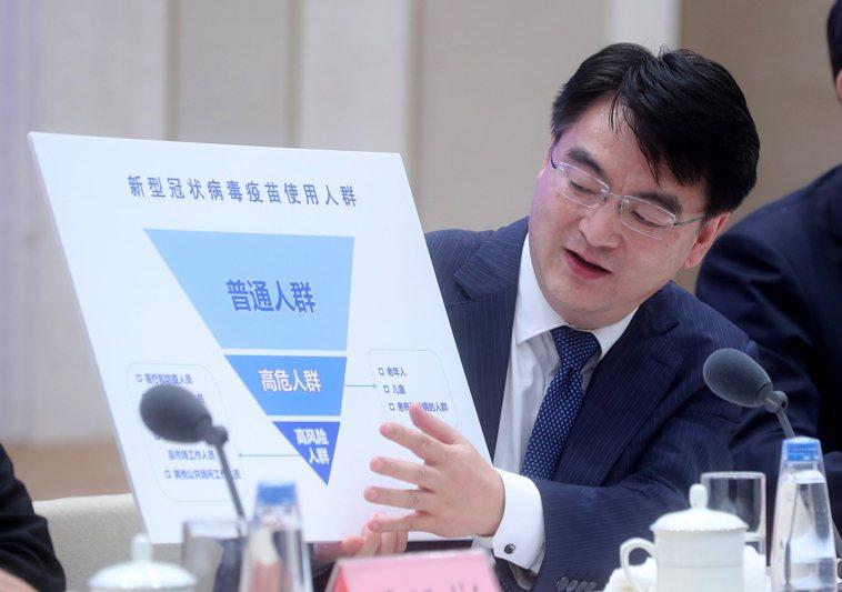 中國國家衛健委醫藥衛生科技發展中心主任鄭忠偉說,新冠肺炎疫苗定價「一定是在大眾可...