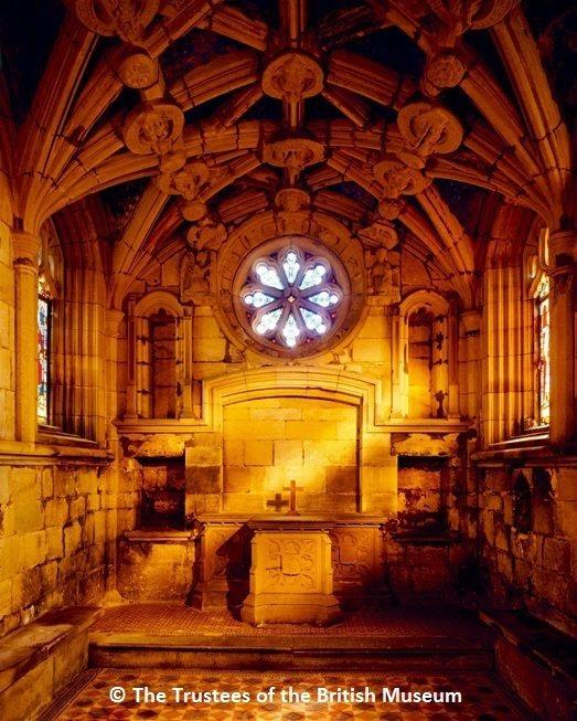 中世紀的英國人為死者的靈魂祈禱, 攝於泰因城堡(Tynemouth Priory)的波西小教堂(Percy chantry)