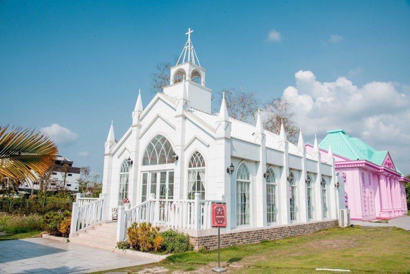 (圖片來源:ShareLife_Zack),白色教堂超美的!