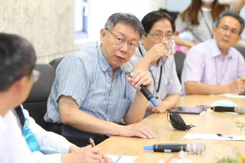 台北市長柯文哲今赴文山區永建國小視察。記者季相儒/攝影