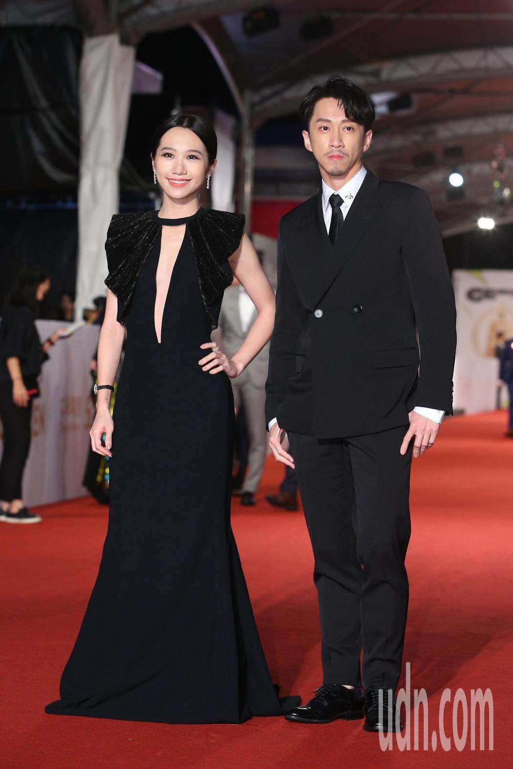第55屆金鐘獎頒獎典禮在國父紀念館舉行,陳漢典(右)、LULU(左)走星光大道。