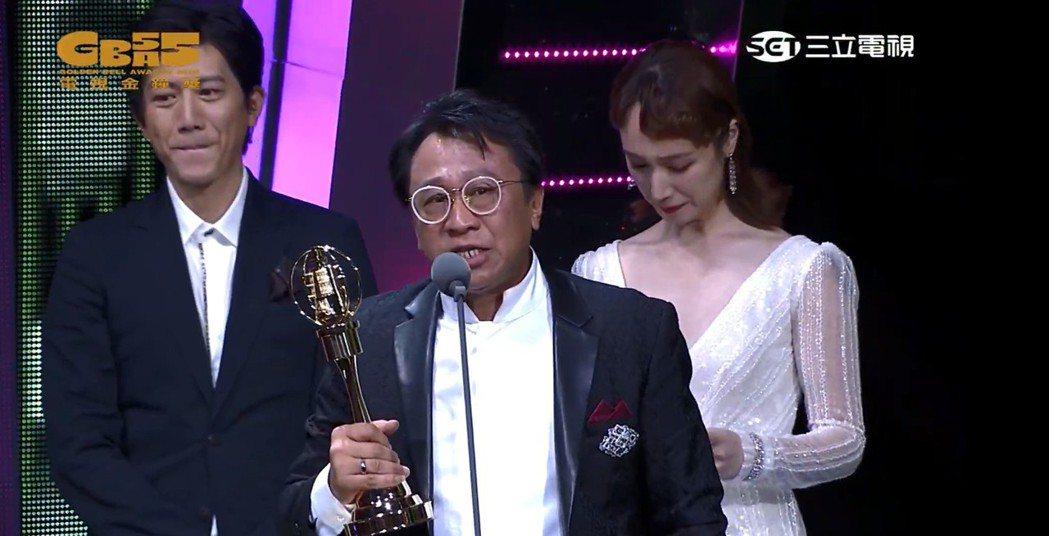 游安順以「盲人阿清」得到迷你劇集或電視電影男配角獎。圖/摘自YouTube