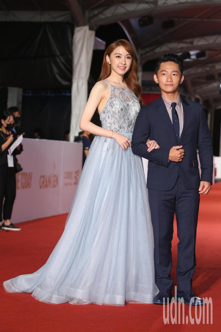 第55屆金鐘獎頒獎典禮在國父紀念館舉行,蔡昌憲(右)走星光大道。記者余承翰/攝影