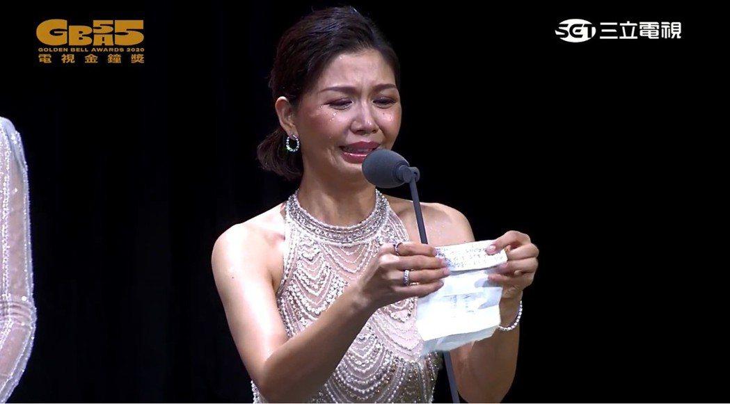 于子育拿下迷你劇女配角獎。圖/摘自youtube