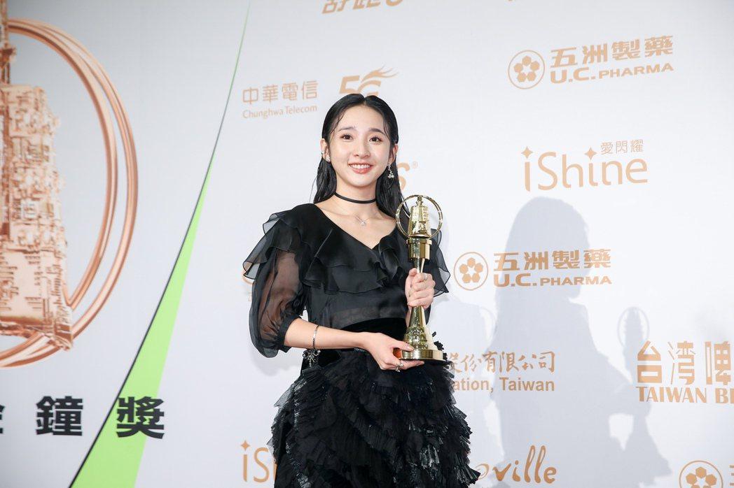 金鐘獎戲劇節目最具潛力新人獎,由李沐以《誰是被害者》中的演出獲得。記者曾原信/攝...