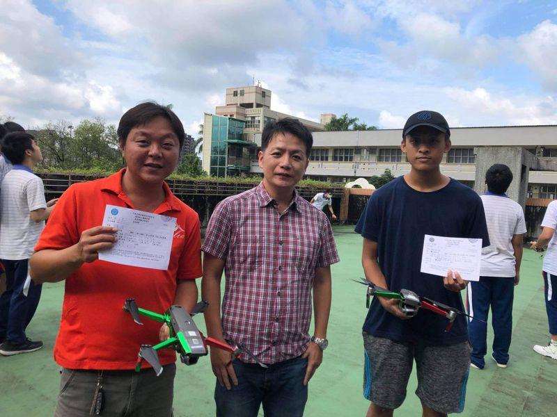 國立基隆商工師生一起考取無人機G1證,擁專業迎接挑戰。圖/國立基隆商工提供