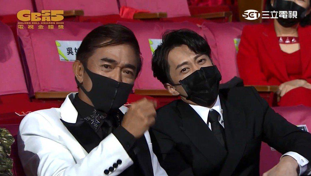 吳宗憲和陳漢典配合Lulu演出。圖/摘自金鐘55官方YouTube