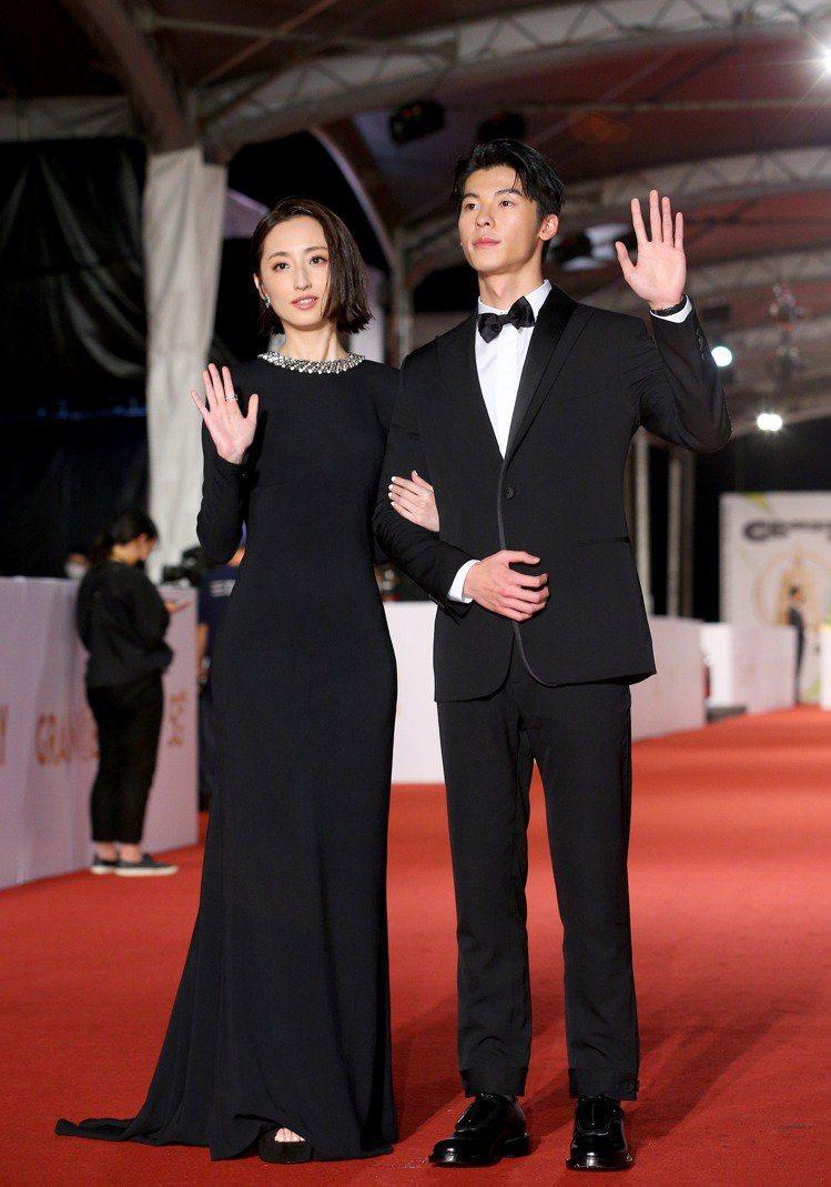 柯佳嬿穿Stella McCartney黑色禮服。記者余承翰/攝影