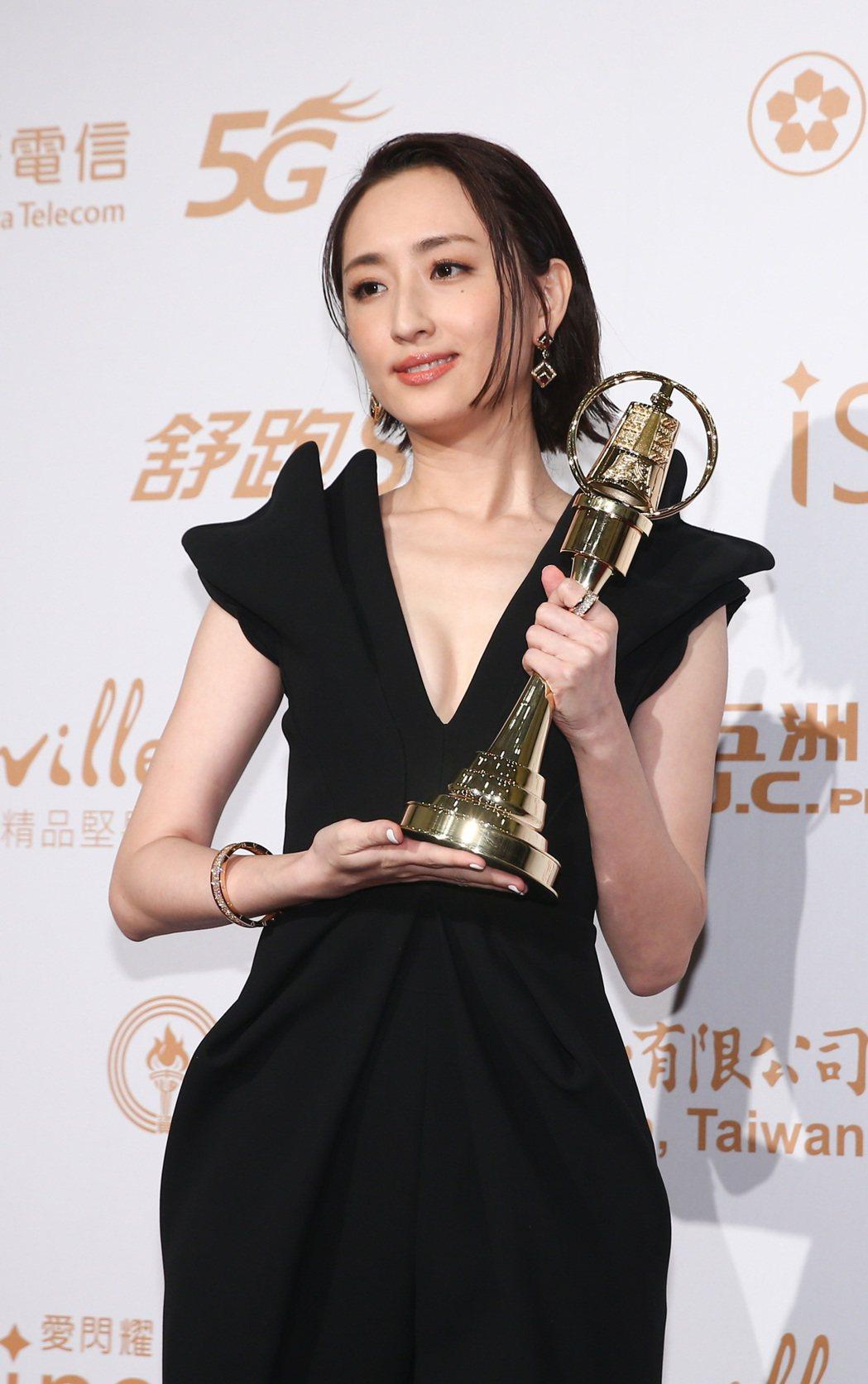 第55屆金鐘獎頒獎典禮在國父紀念館舉行,戲劇節目女主角由柯佳嬿獲得。記者曾原信/...
