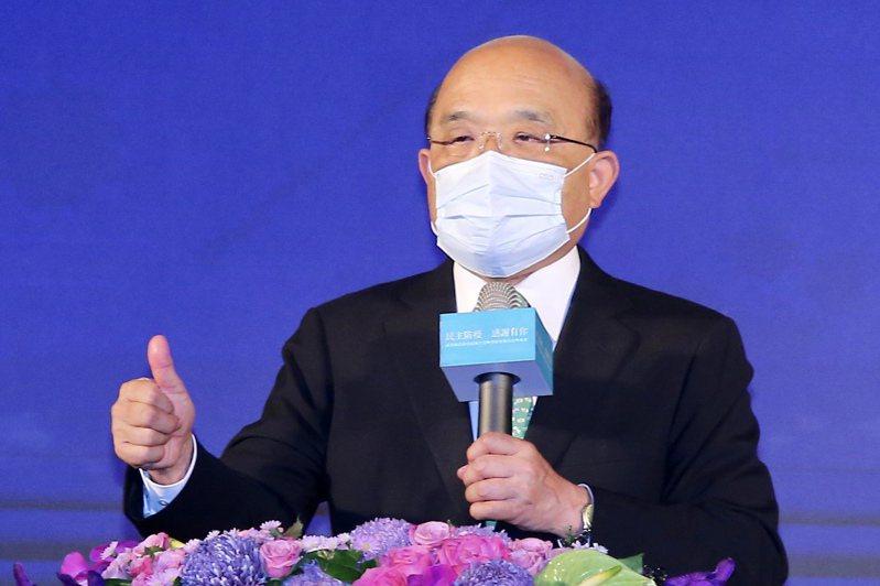 行政院長蘇貞昌。報系資料照/記者林伯東攝影
