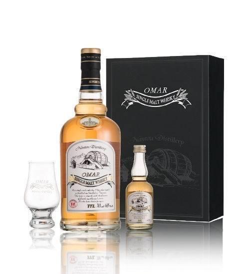 得獎常滕軍OMAR單一麥芽威士忌「波本花香禮盒」。台酒/提供