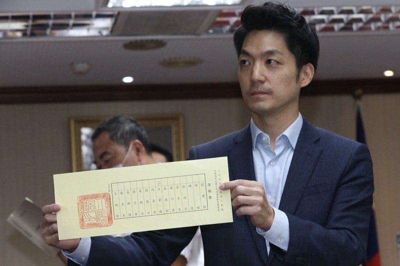 立委蔣萬安表示,國民黨之所以會極力爭取衛環委員會的召委,就是希望行政命令可以在立法院進行實質審查。聯合報系資料照片/記者黃義書攝影
