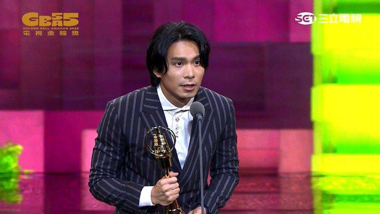 姚淳耀以「鏡子森林」拿下第55屆金鐘視帝。圖/翻攝自金鐘獎YouTube