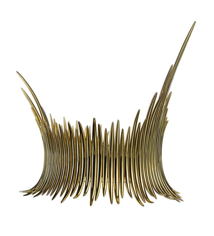 Couture Quill Choker鍍18K黃金項圈,17,400美元。圖/...