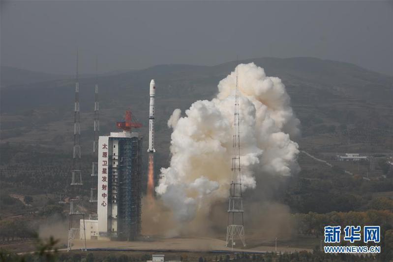 9月27日11時23分,大陸在太原衛星發射中心用長征四號乙運載火箭,以一箭雙星方式將環境減災二號01組衛星送入預定軌道,發射任務獲得成功。新華社