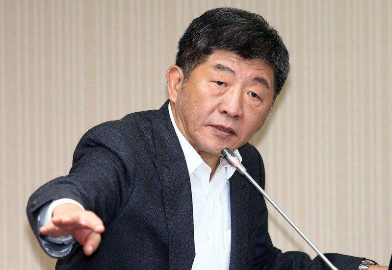 衛生福利部部長陳時中今出席防疫獎章授獎典禮前表示,台灣本來就不允許進口中國疫苗,...