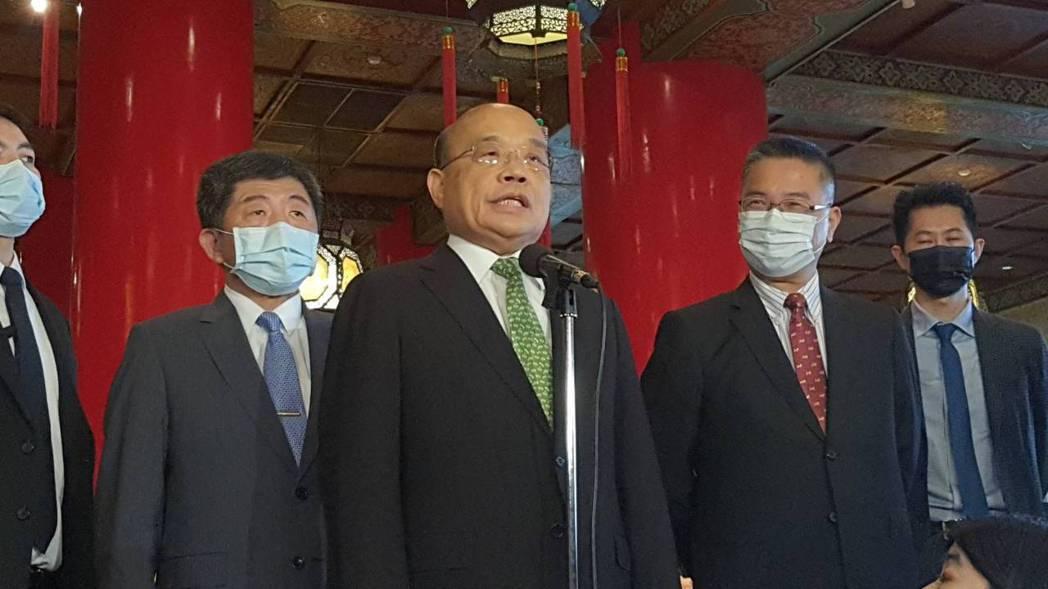 對於有台灣藝人參與中共「十一」晚會,行政院院長蘇貞昌表示,享受了自由民主和健保資...