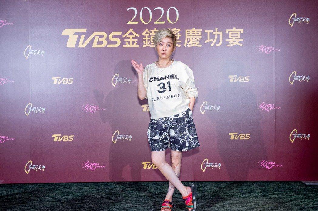 藍心湄出席TVBS慶功宴。圖/TVBS提供
