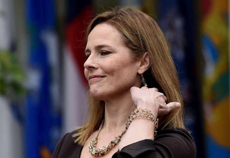 巴瑞特獲美國總統川普提名為大法官。(法新社)