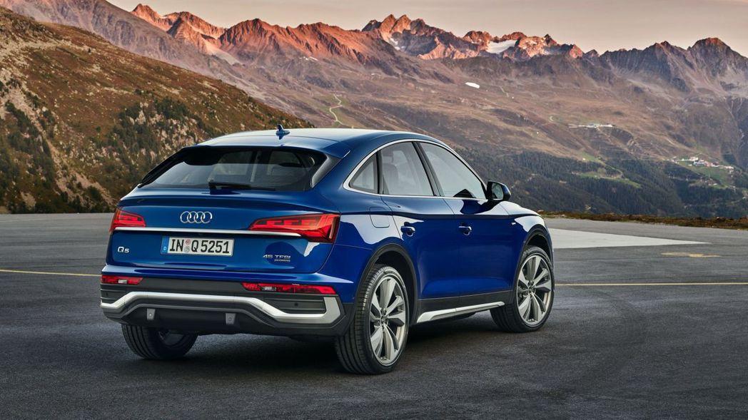 流線的車尾讓Audi Q5 Sportback更加美型。 摘自Audi