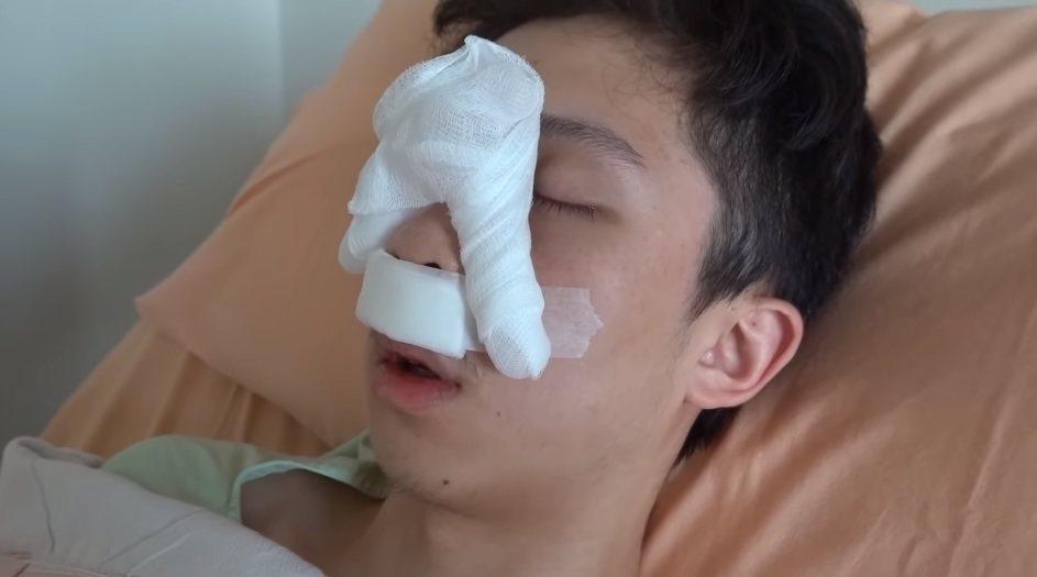 孫安佐手術住院。圖/擷自YouTube