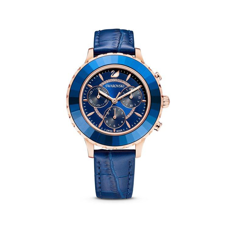 施華洛世奇OCTEA LUX CHRONO腕表,17,900元。圖/施華洛世奇提...