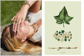 常春藤代表永恆的愛 DIOR做成珠寶戴身上