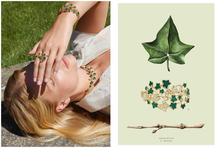 Leaves of Love系列珠寶以常春藤為創作靈感。圖/DIOR提供