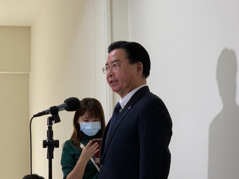 外交部長吳釗燮。記者鄭媁/攝影