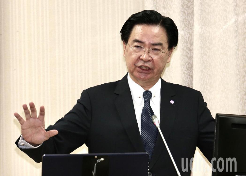 外交部長吳釗燮表示,台美關係的基礎就是「台灣關係法」,其中訂定得很清楚,美國會協...