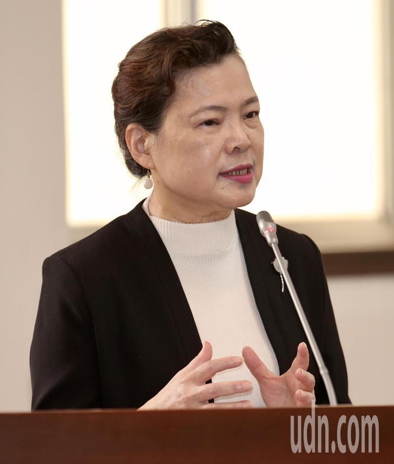 王美花表示,開放美豬進口是台灣要走的戰略地位。記者黃義書/攝影