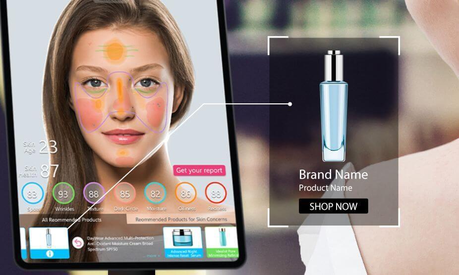 玩美移動推出升級版 AI 智慧肌膚偵測。圖/玩美提供