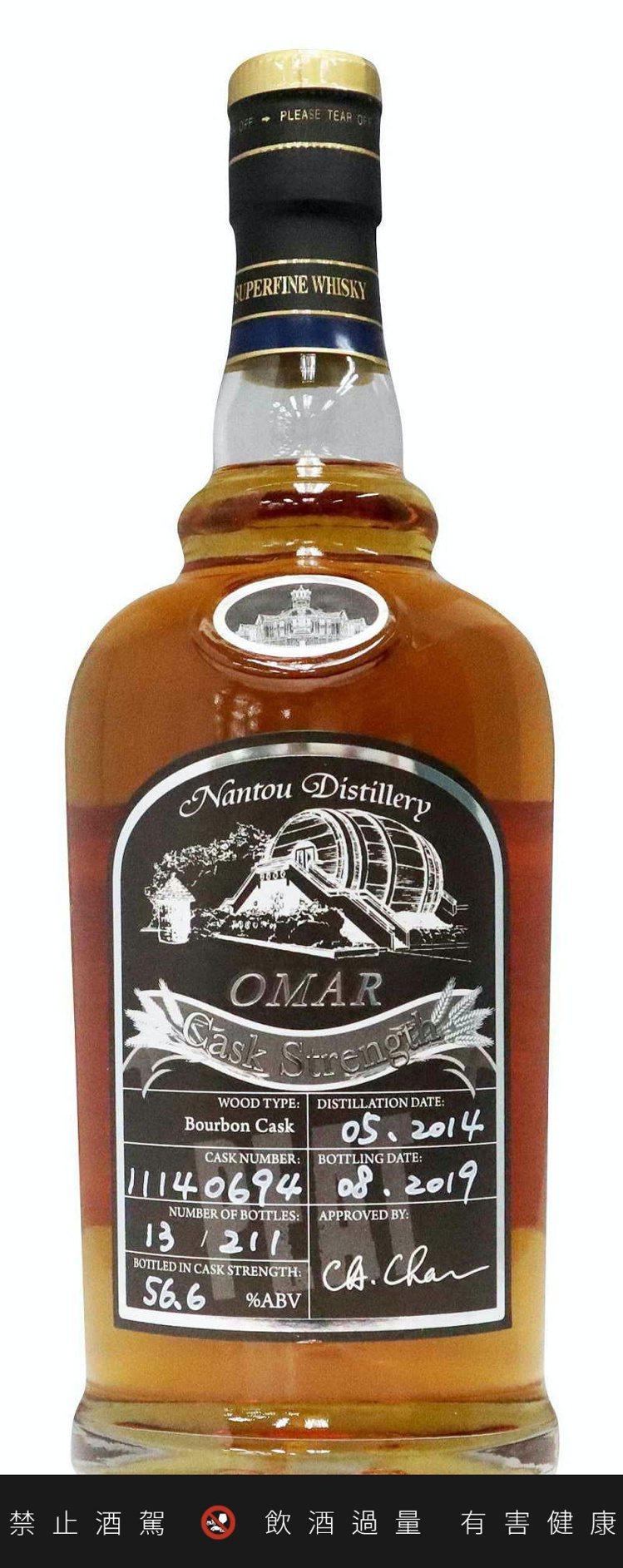 「OMAR原桶強度泥煤麥芽威士忌(波本桶)」獲麥芽狂人大賽(非蘇格蘭區)最佳泥煤...
