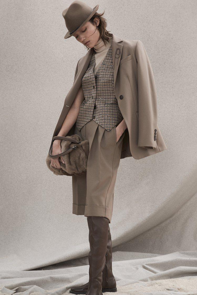 秋冬女裝系列。圖/Brunello Cucinelli提供