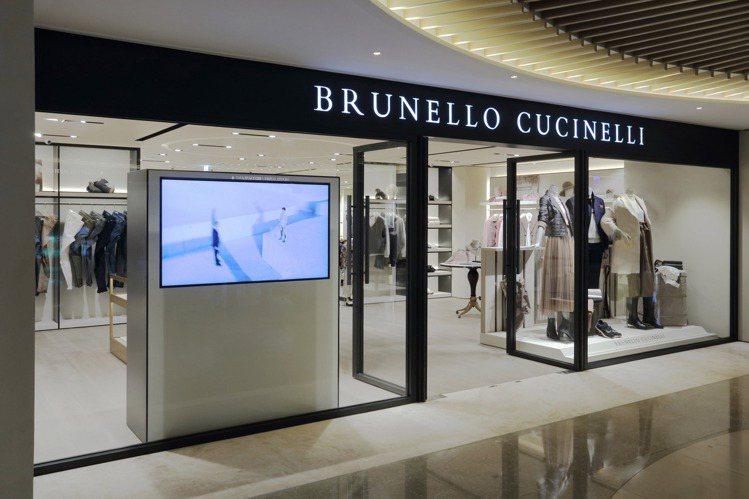 Brunello Cucinelli在台北麗晶精品開設專賣店。圖/Brunell...