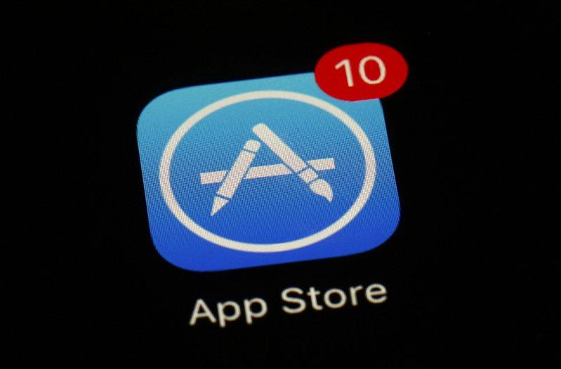 iOS系統的App Store。美聯社
